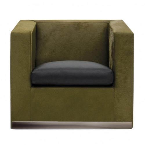 Minotti suitcase-line-armchair herstofferen